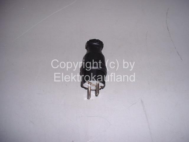 Gummistecker 230V schwarz