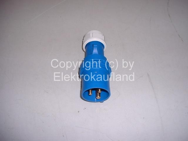 CEE-Stecker 230V/16A 3-polig 6h IP44