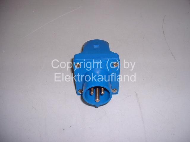 CEE-Einspeisedose AP 230V/16A 3-polig 6h IP44