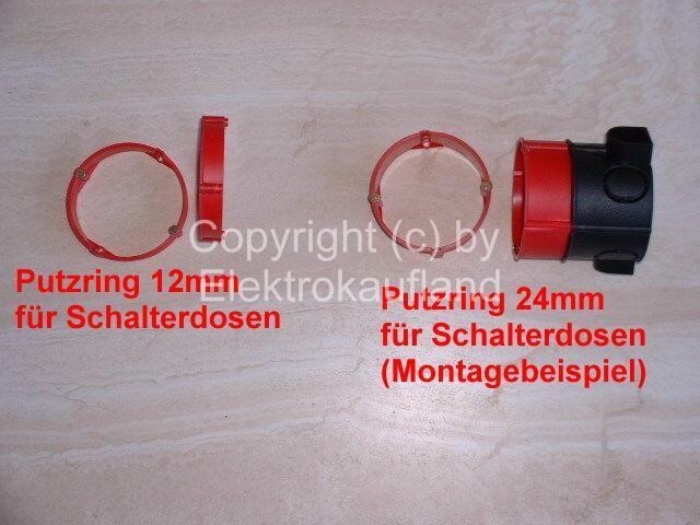 Putzausgleichsring 70mm Tiefe 24mm f. Abzweigdosen