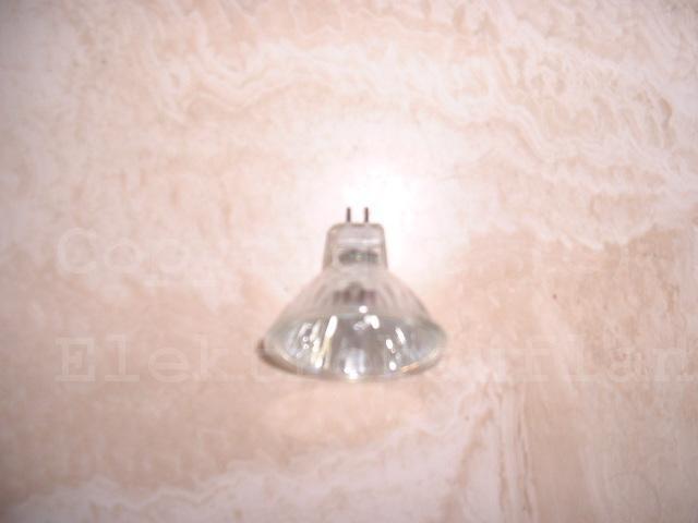 Niedervolt Halogenlampe 50mm 12V 50W mit Deckglas
