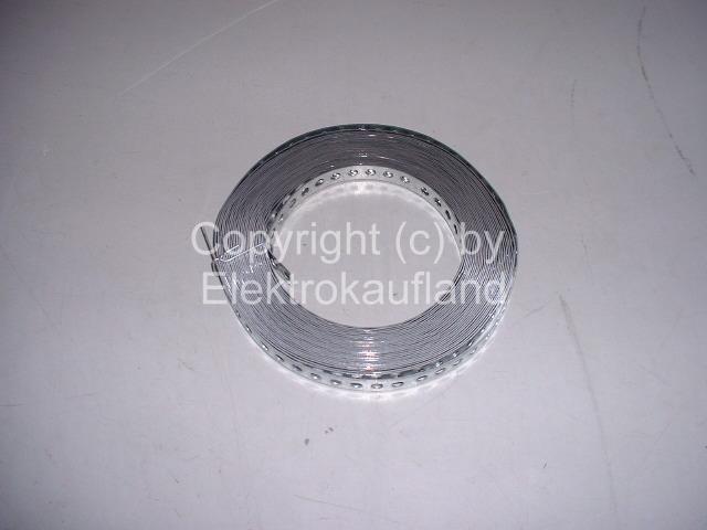 Montageband Metall gelocht verzinkt 17x0,75mm