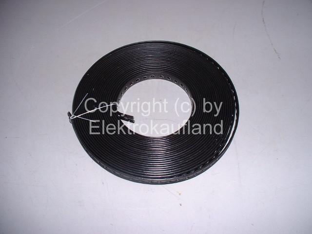Montageband Metall gelocht verzinkt mit Kunststoffummantellung 12x0,5mm