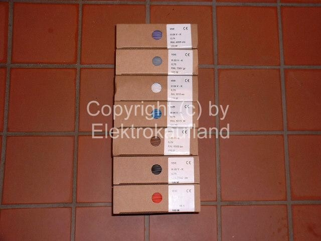 PVC-Aderleitung flexibel H05V-K 1x0,75mm² 100m rot
