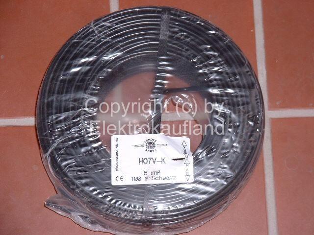 PVC-Aderleitung flexibel H07V-K 1x25mm² METERWARE schwarz