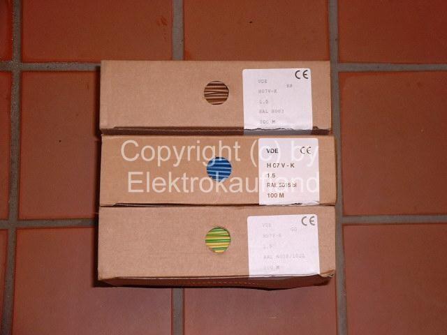 PVC-Aderleitung starr H07V-U 1x1,5mm² 100m braun
