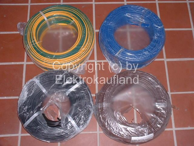 PVC-Aderleitung flexibel H07V-K 1x6mm² 100m grüngelb