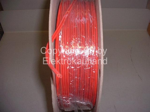 Niedervolt-Flachleitung 24V/180°C 2x1,5mm² rot METERWARE