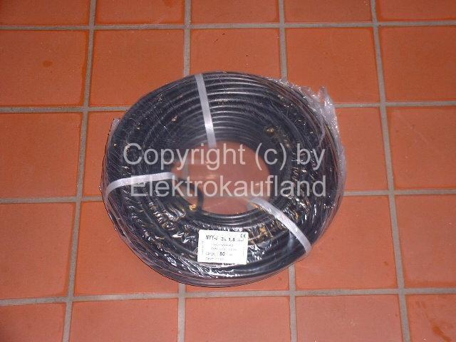 NYY-J Erdkabel 3x2,5mm² 50m