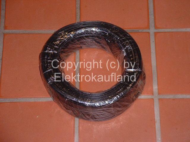 (ISDN)-Telefonkabel 8-polig Flachkabel 100m schwarz