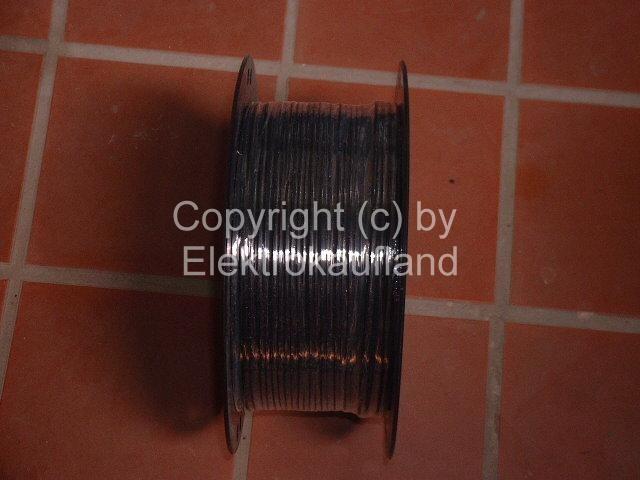 Lautsprecherkabel flexibel 2x1mm² schwarz 100m