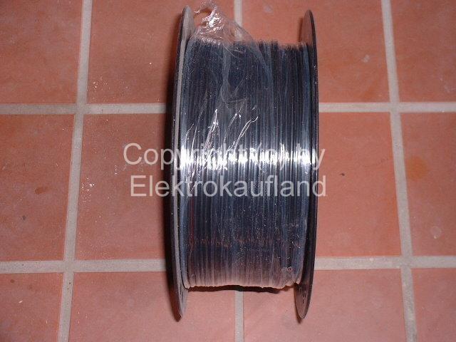 Lautsprecherkabel flexibel 2x4mm² schwarz 100m