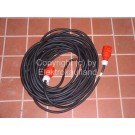 CEE-Starkstrom Verlängerungskabel H05RR-F 5x1,5mm² 13A/16A 25m mit Phasenwenderstecker