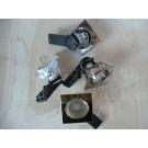 Hochvolt-Einbaustrahler 230V quadratisch schwenkbar 30° weiß